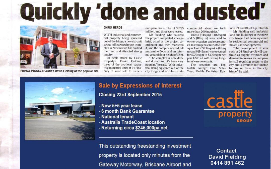 """Courier Mail – """"Prime Site"""" – An article about our Newmarket Project"""
